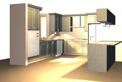 Tws doors kitchen design the premiere location for for 3d drawing kitchen